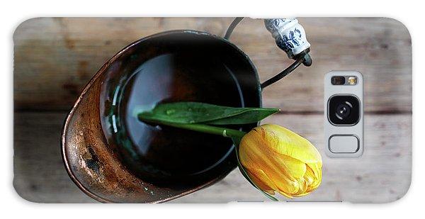 Metal Leaf Galaxy Case - Still Life With Tulip by Nailia Schwarz