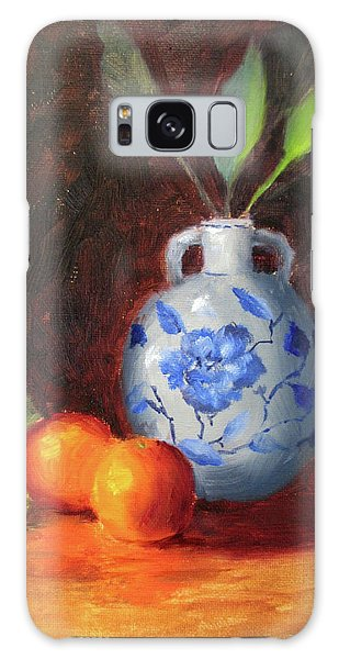 Galaxy Case - Still Life With Vase And Fruit by Liberty Dickinson