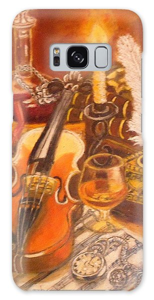 Still Life With Violin And Candle Galaxy Case
