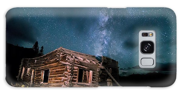 Still Night At Old Cabin Galaxy Case by Michael J Bauer