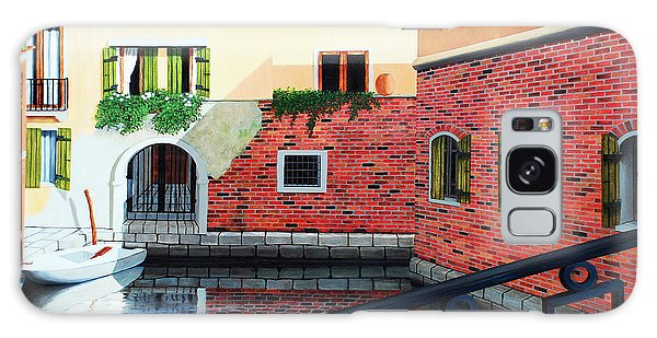 Still, On The Venice Canal, Prints From The Original Oil Painting Galaxy Case