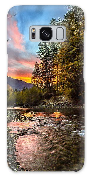 Stillaguamish Sunset Galaxy Case