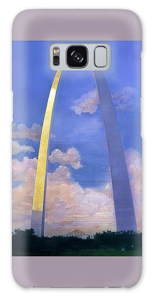 Galaxy Case featuring the mixed media St.louis Gateway Arch by John Dyess