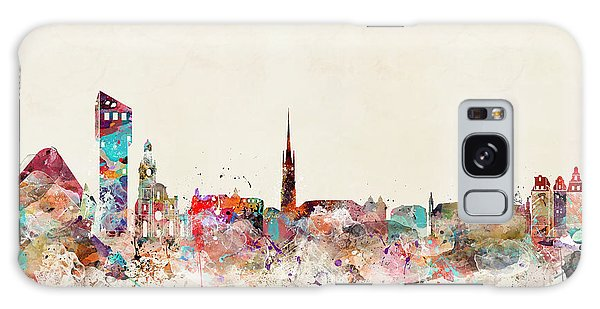 Sweden Galaxy Case - Stocklholm Sweden Skyline by Bri Buckley