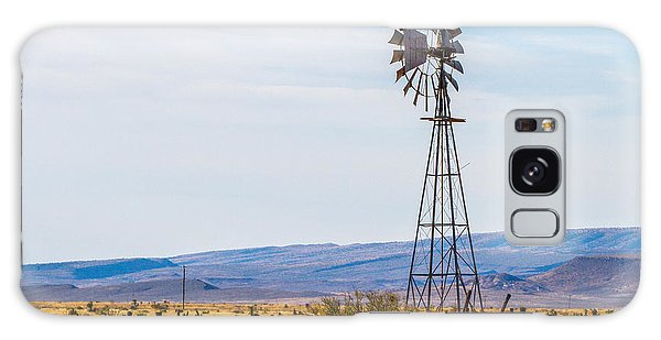 Galaxy Case featuring the photograph Stockyard And Windmill by SR Green