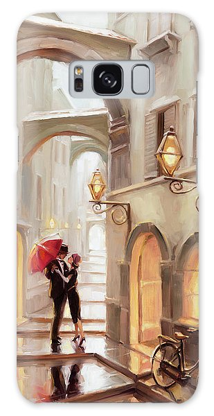 Arched Galaxy Case - Stolen Kiss by Steve Henderson