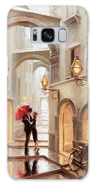 Galaxy Case featuring the painting Stolen Kiss by Steve Henderson