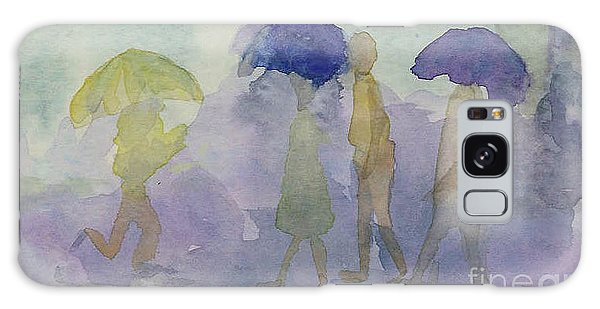 Stomping In The Rain Galaxy Case by Vicki  Housel