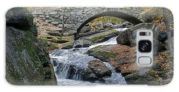 Stone Arch Bridge In Autumn Galaxy Case