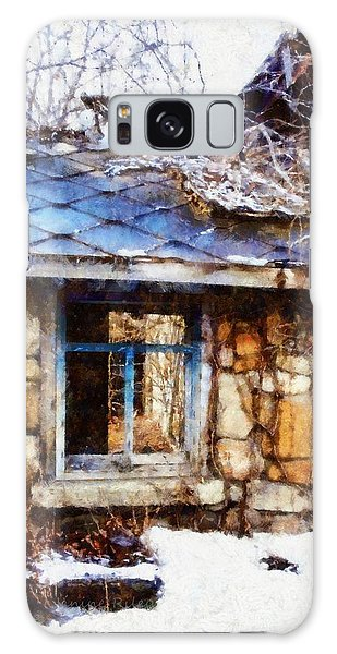 Stone Barn Old Blue Window Galaxy Case