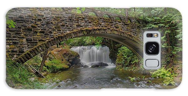 Stone Bridge At Whatcom Falls Park Galaxy Case