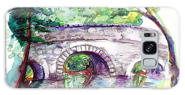 Stone Bridge In Early Autumn Galaxy Case