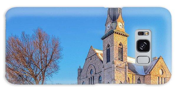 Stone Chapel In Winter Galaxy Case