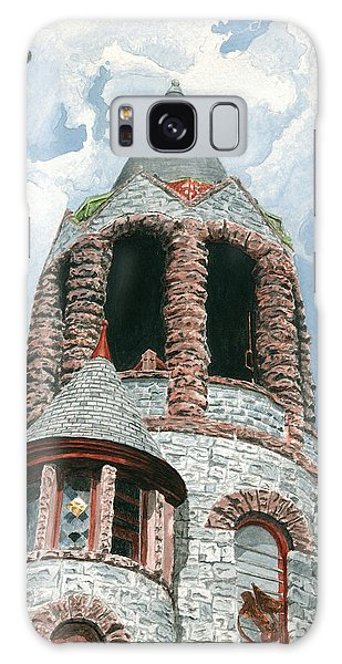 Galaxy Case featuring the painting Stone Church Bell Tower by Dominic White