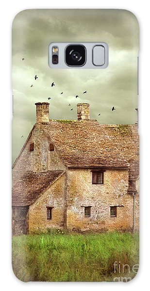 Stone Cottage And Stormy Sky Galaxy Case by Jill Battaglia