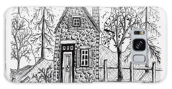 Pen And Ink Drawing Galaxy Case - Stone Cottage by Karla Gerard