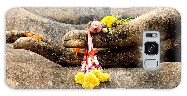 Stone Hand Of Buddha Galaxy Case