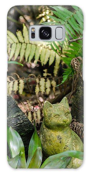 Stone Kitty Among The Ferns Galaxy Case