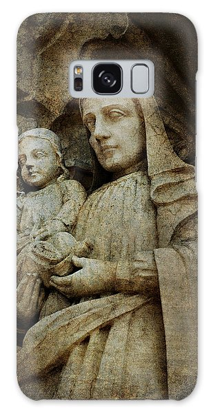 Stone Madonna And Child Galaxy Case