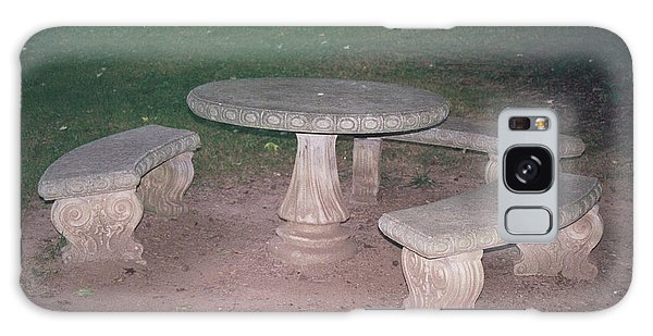 Stone Picnic Table And Benches Galaxy Case