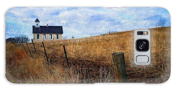 Stone Schoolhouse On The Kansas Prairie Galaxy Case