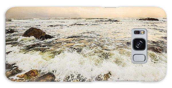 Breaking Dawn Galaxy Case - Stone Shore Ocean Seascape  by Jorgo Photography - Wall Art Gallery