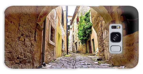 Stone Town Of Groznjan Old Street  Galaxy Case by Brch Photography
