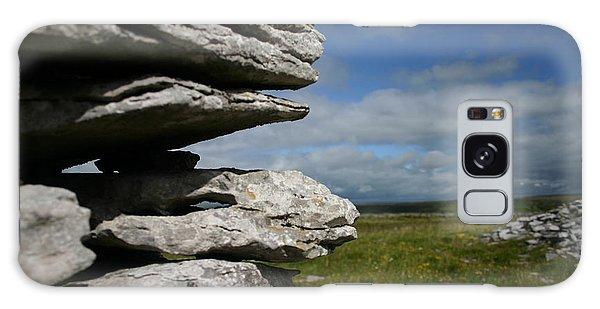 Stone Wall In The Burren Galaxy Case by Martina Fagan