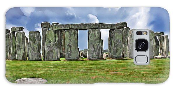 Galaxy Case featuring the digital art Stonehenge by Harry Warrick