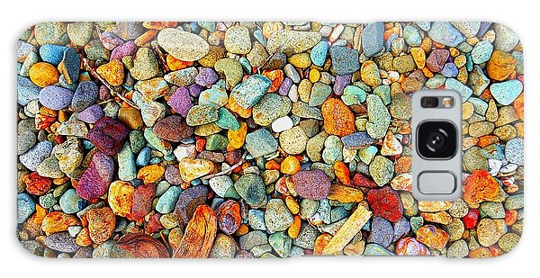 Stones And Barks On Beach Galaxy Case