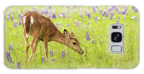 Stop And Smell The Bluebonnets. Galaxy Case