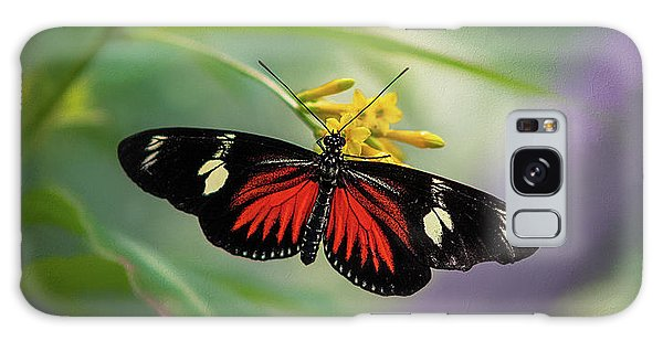 Butterfly, Stop And Smell The Flowers Galaxy Case
