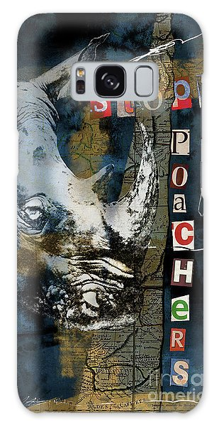 Stop Rhino Poachers Wildlife Conservation Art Galaxy Case