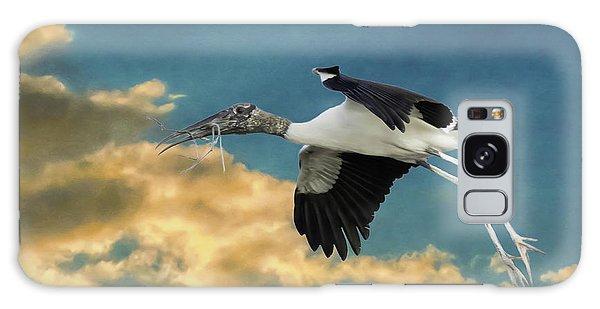 Stork Bringing Nesting Material Galaxy Case