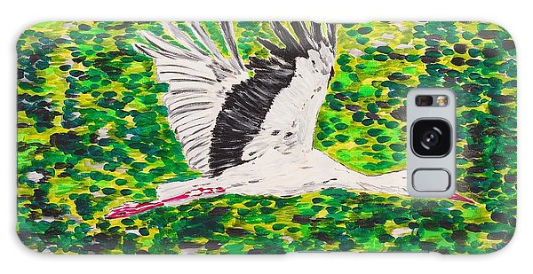 Stork In Flight Galaxy Case