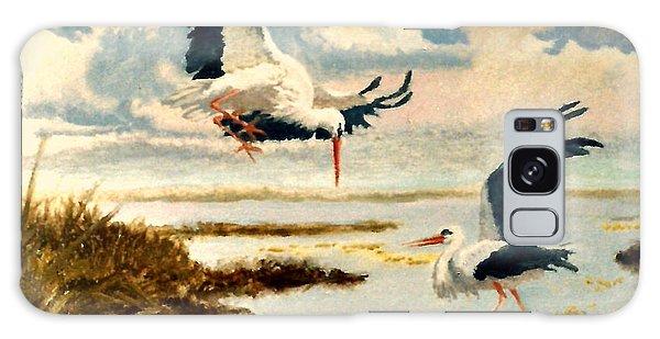 Storks II Galaxy Case by Henryk Gorecki