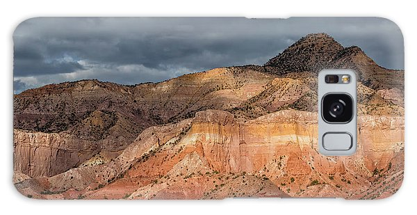 Storm Above Ghost Ranch Mountains Galaxy Case