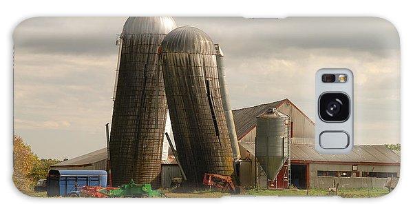 Storm At The Farm Galaxy Case