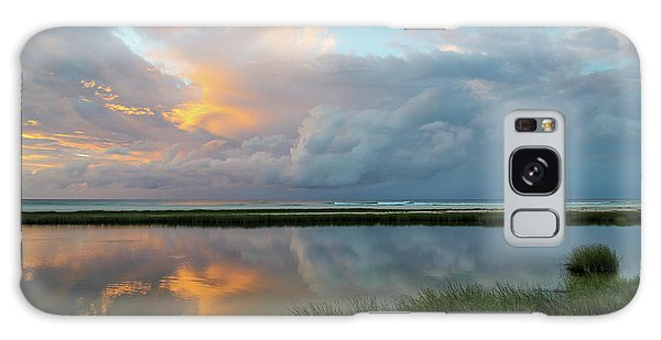 Storm Cloud Reflections At Sunset Galaxy Case