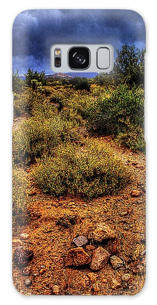 Storm Clouds Over The Sonoran Desert In Spring Galaxy Case