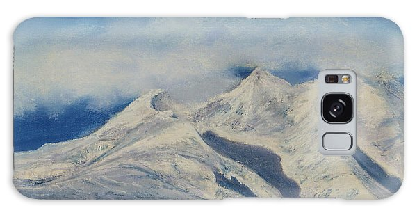 Storm Clouds Over Winter Mountain Blues Galaxy Case by Stanza Widen