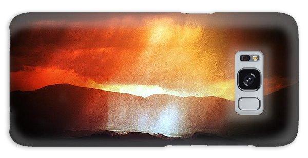 Storm Glow Night Over Santa Fe Mountains Galaxy Case by Joseph Frank Baraba
