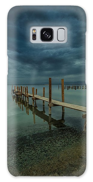 Storm Over The Dock Galaxy Case