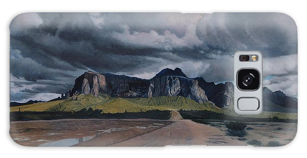 Storm Over The Superstitions Galaxy Case by Barbara Barber