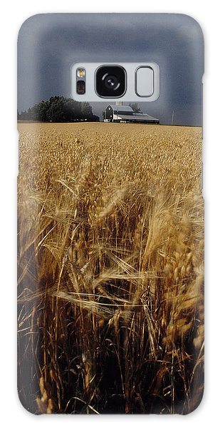 Storm Over Wheat Field  Galaxy Case
