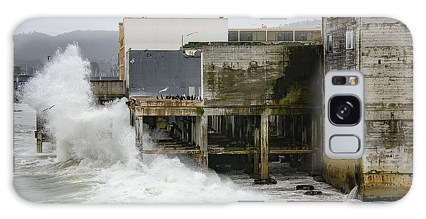 Storm Waves Hit Aeneas Ruins At Cannery Row Galaxy Case