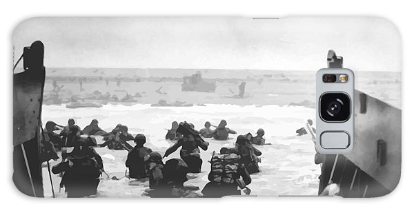 Hero Galaxy Case - Storming The Beach On D-day  by War Is Hell Store
