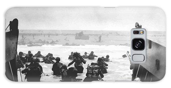 Storming The Beach On D-day  Galaxy Case