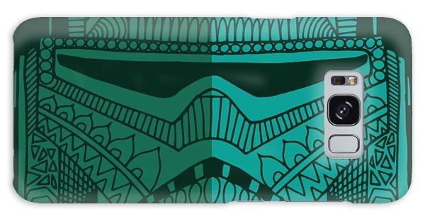 Stormtrooper Helmet - Star Wars Art - Blue Green Galaxy Case