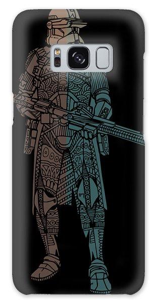 Stormtrooper Samurai - Star Wars Art - Minimal Galaxy Case